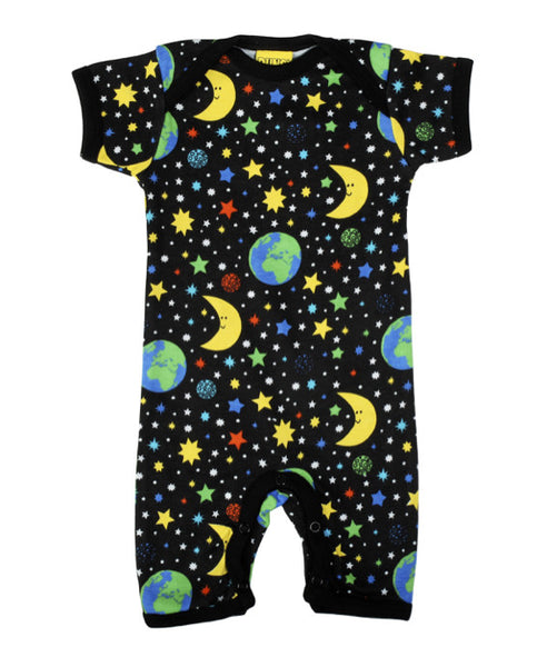 DUNS Sweden black Mother Earth playsuit