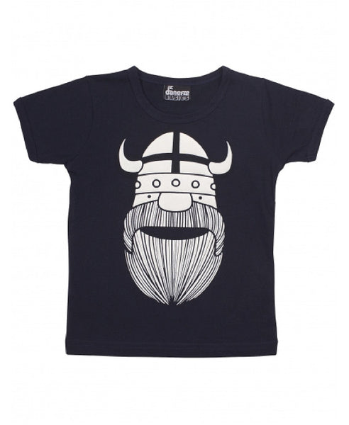 Danefae navy blue glow in the dark viking t-shirt