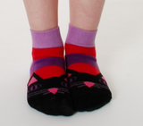 DUNS Sweden purple cat face socks
