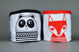 Jane Foster panda and red fox large storage buckets