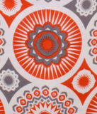 Mini Moderns orange darjeeling pattern detail