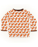Sture & Lisa organic unisex fox print toddler top