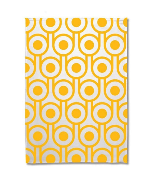 Hokolo yellow egg tea towel