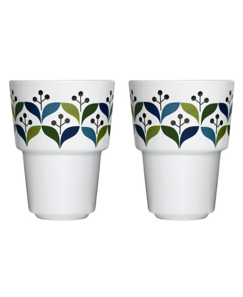 Sagaform pair of retro mugs