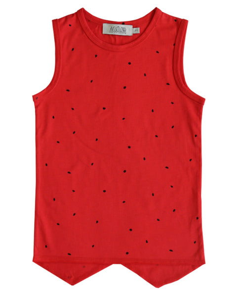 Anive for the Minors red watermelon top