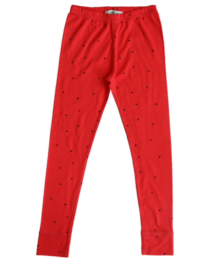 Anive for the Minors red watermelon leggings