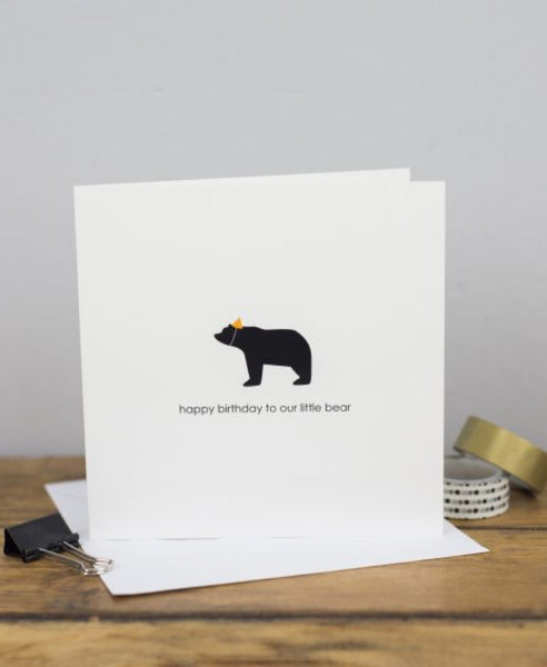 Heather Alstead happy birthday little bear card