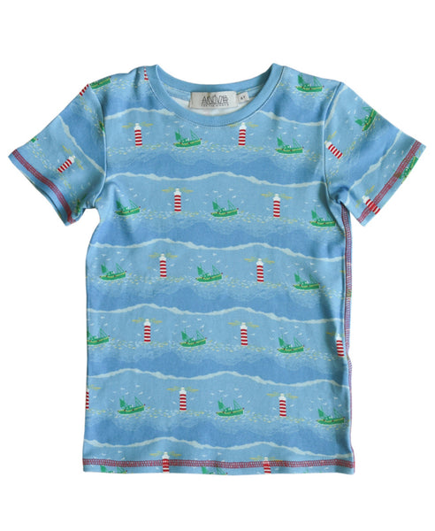 Anive for the Minors blue lighthouse t-shirt