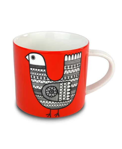 Jane Foster Scandi Linea red chicken mug