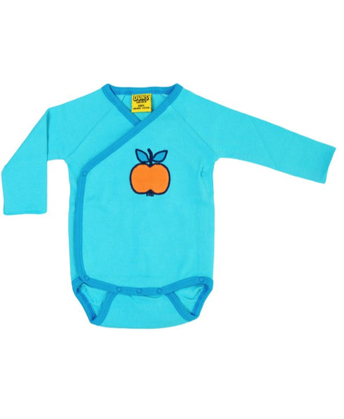 DUNS Sweden apple applique baby vest