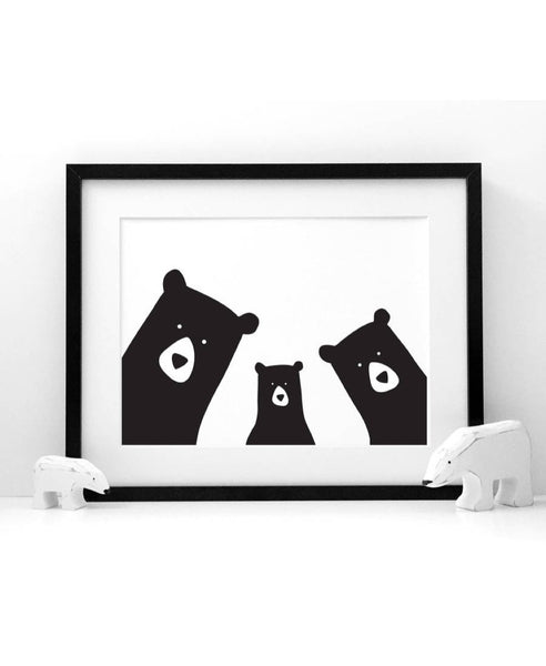 Heather Alstead 3 bears family art print