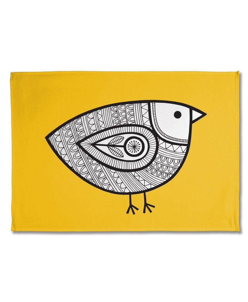 Jane Foster yellow chick tea towel