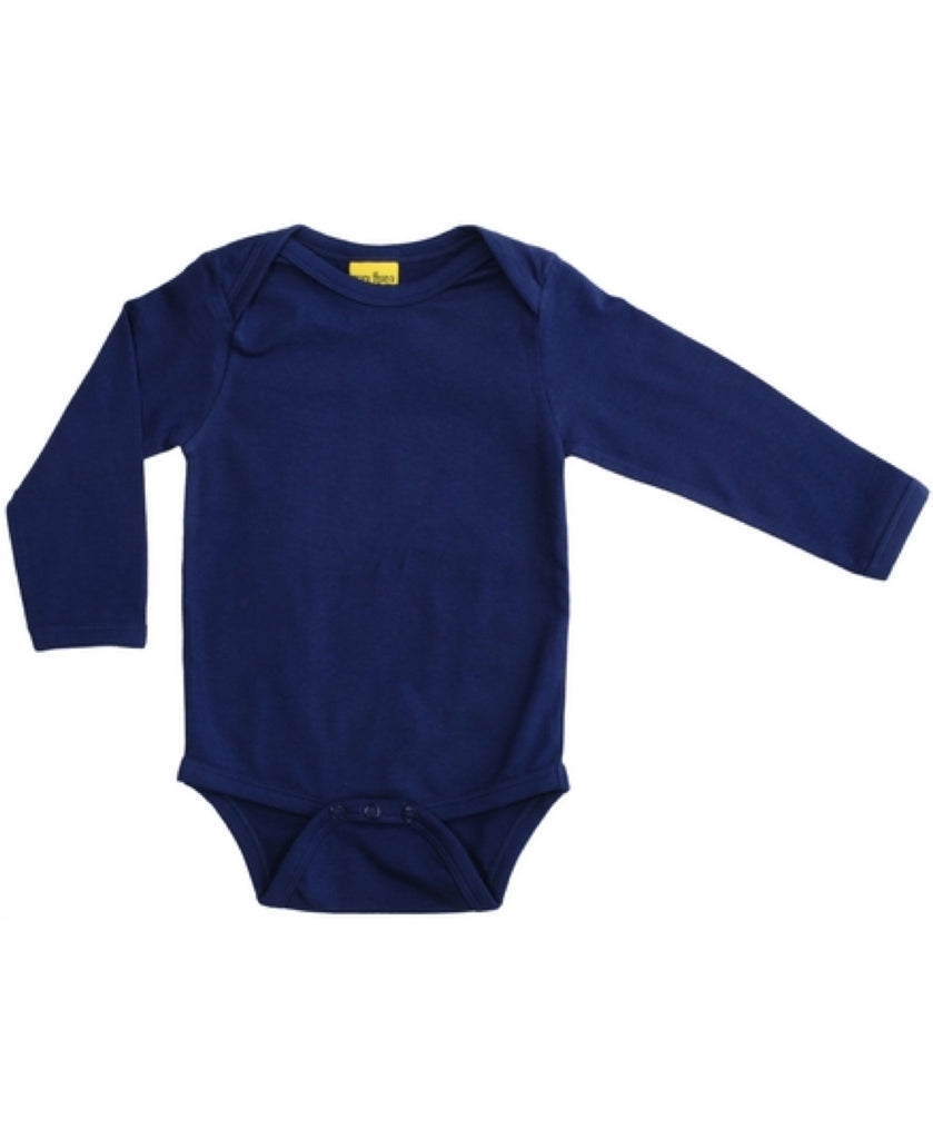 More Than A Fling navy blue baby vest