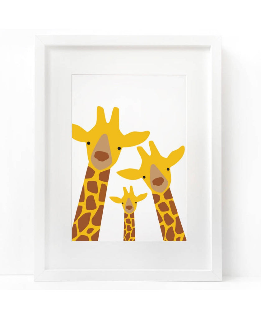 Heather Alstead 3 giraffes family art print