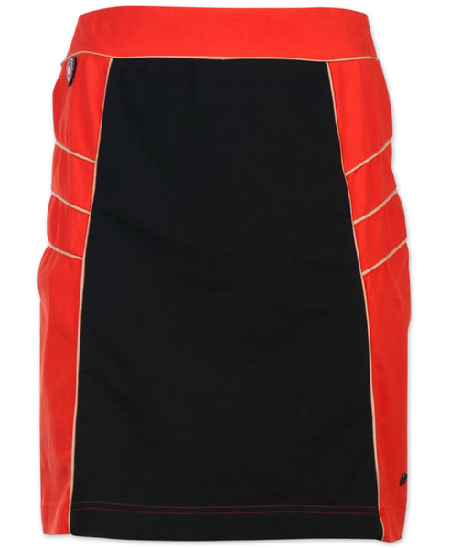 4funkyflavours orange and brown Rock the Boat adult skirt
