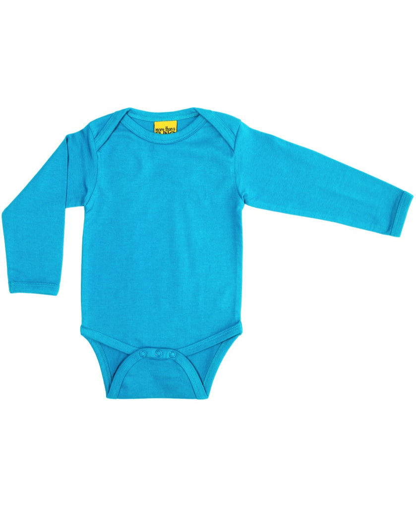 More Than a Fling turquoise baby vest