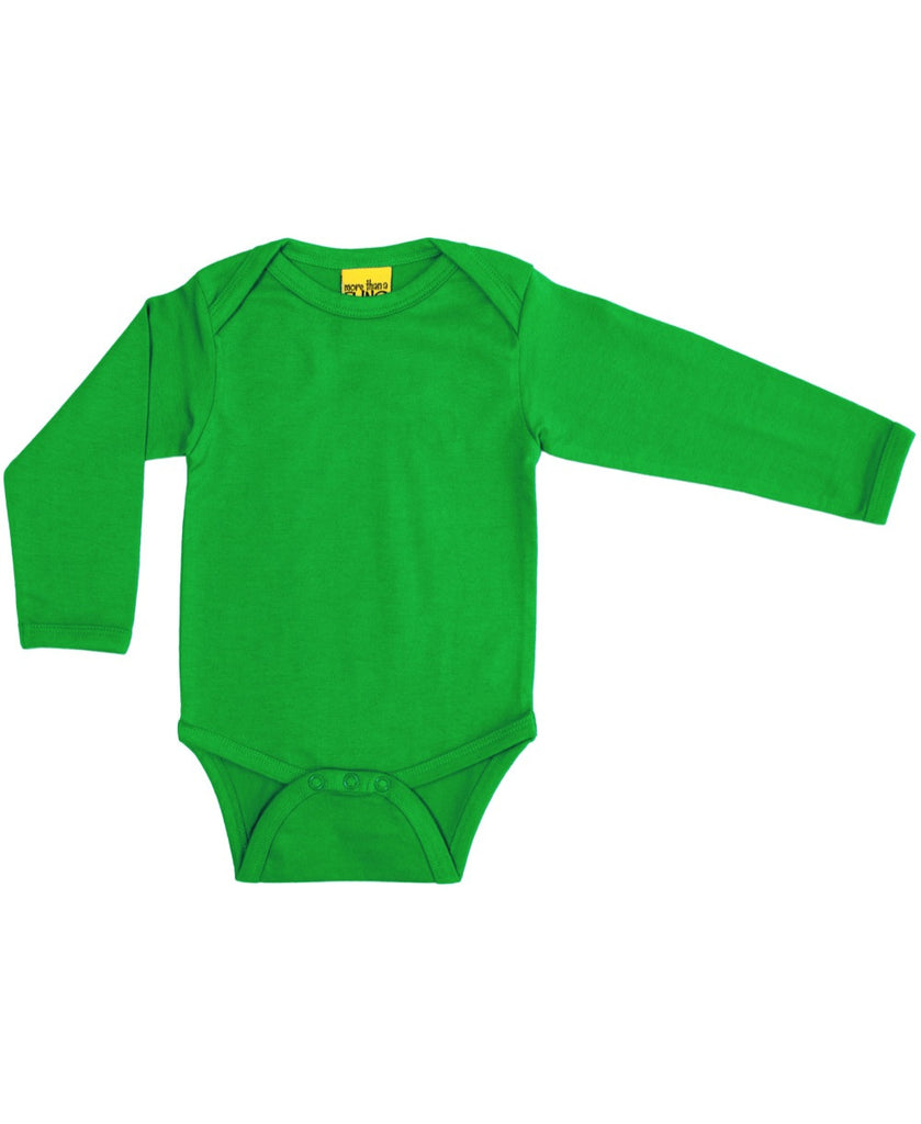 More Than a Fling green baby vest