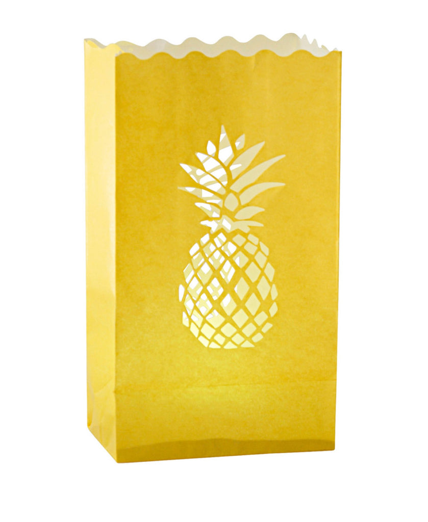 Kitsch Kitchen yellow pineapple candle bag