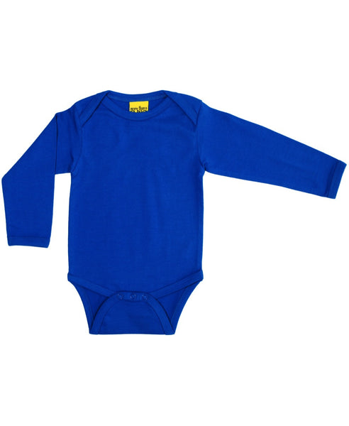 More Than a Fling blue baby vest