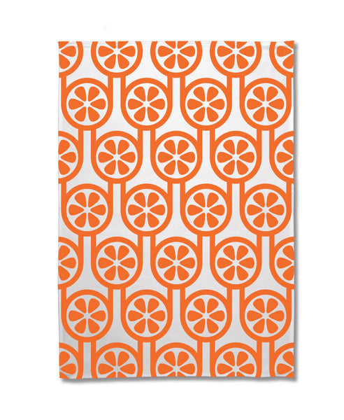 Hokolo orange tea towel