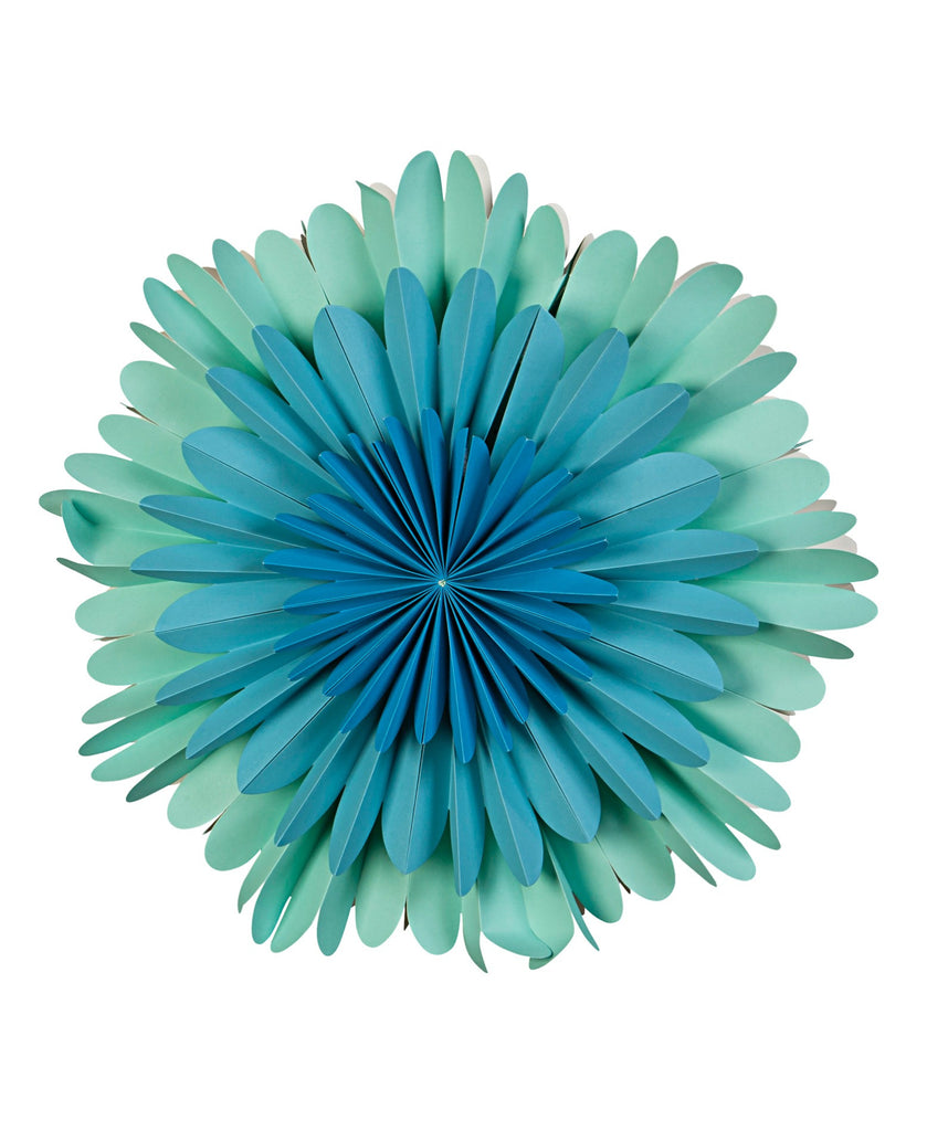 Kitsch Kitchen blue flower lamp with light off