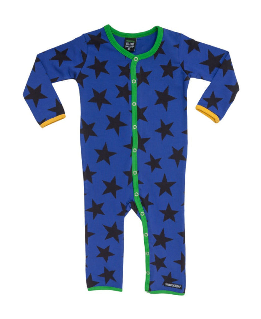 Villervalla blackberry blue star romper