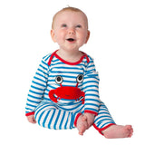 Lipfish blue stripe crab romper