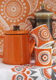 Mini Moderns orange darjeeling mugs