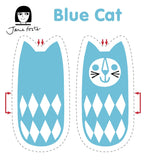 Jane Foster blue cat sewing kit - sewing pattern