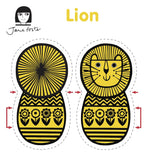 Jane Foster lion sewing kit - sewing pattern