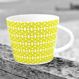 Scion living lime green lace mug on a table