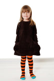 DUNS Sweden orange and brown stripe tights