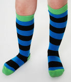 DUNS Sweden black & blue stripe knee socks
