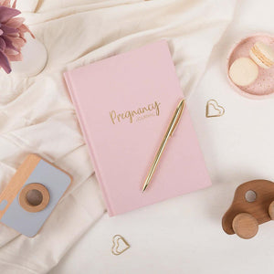 Blush Pink Linen Pregnancy Journal  - LIMITED EDITION