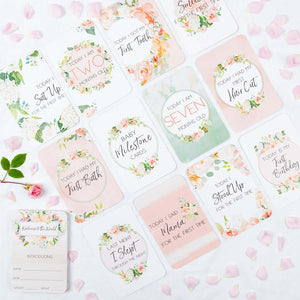Baby Milestone Cards  | Floral Design Baby Milestone Cards