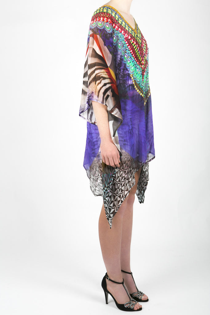 Embellished Kaftan Digital Print Design KC-K149