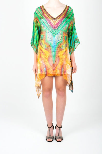 Embellished Kaftan Digital Print Design KC-K156