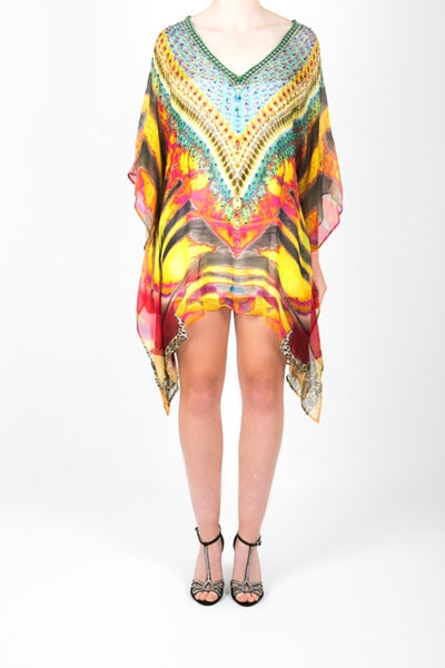 Embellished Kaftan Digital Print Design KC-K150