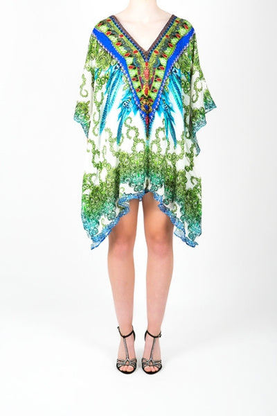 Embellished Kaftan Digital Print Design KC-K266