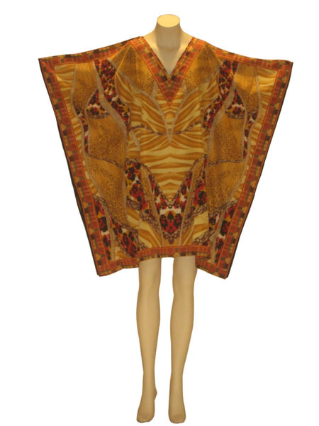 Animal Print Dashiki Tunic Top : Tan