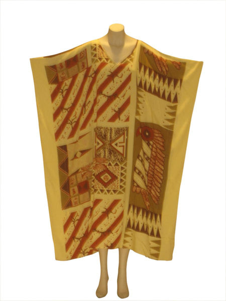 African Cultural Kaftan Caftan Dress: Natural