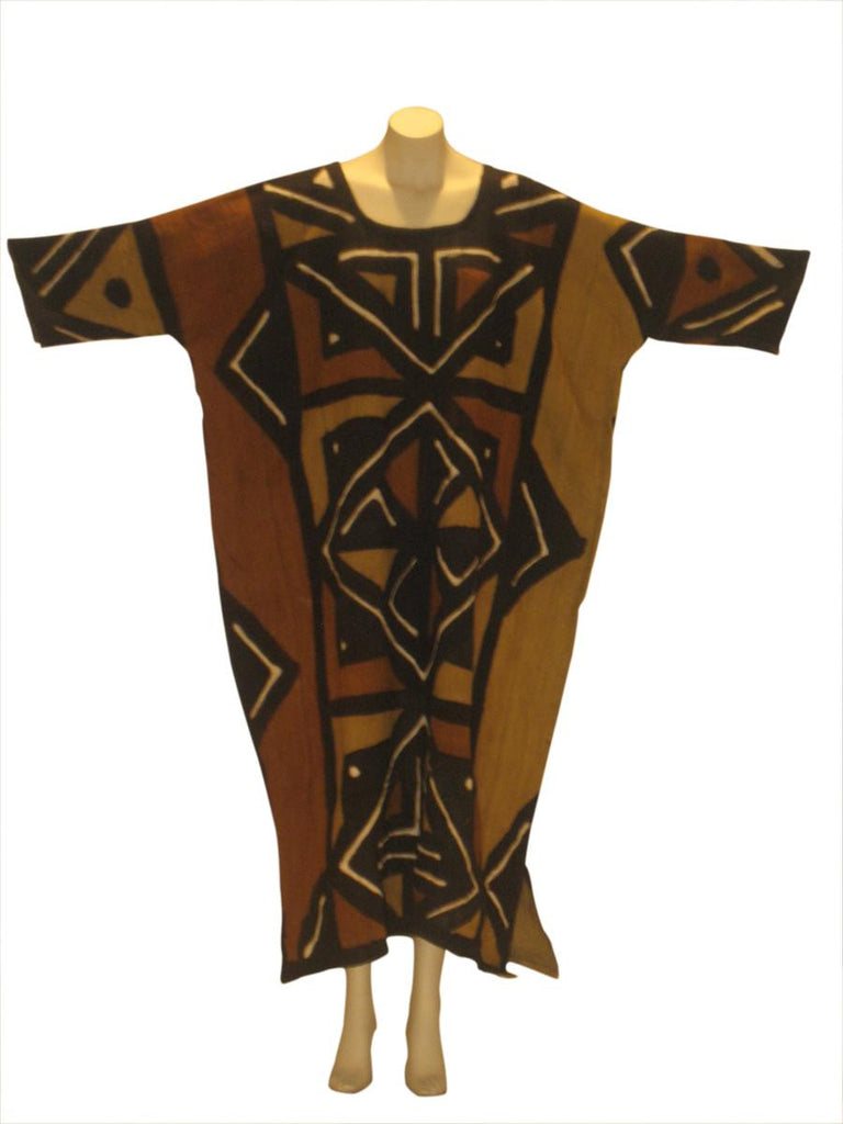 Mali Mudcloth Mudstick Full Length Kaftan Caftan Dress