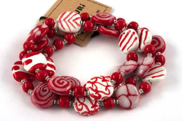 Bright Red & White Richi