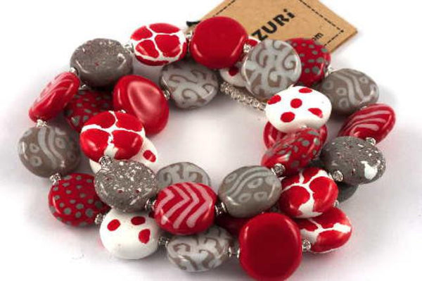 Daisy & Bright Red Smartie Necklace