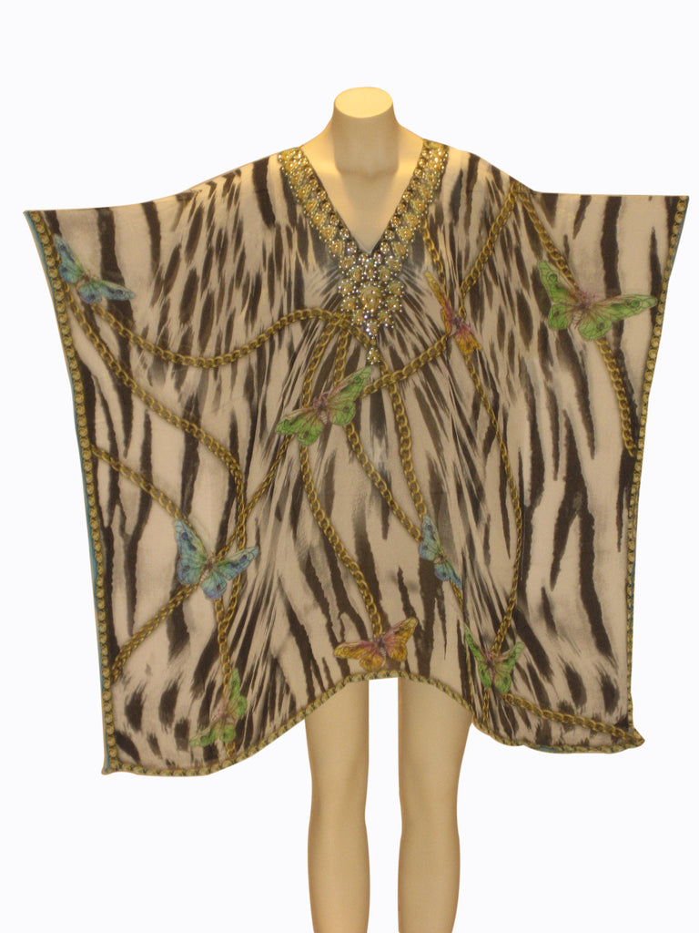 Embellished Kaftan Digital Print Design KF202013A