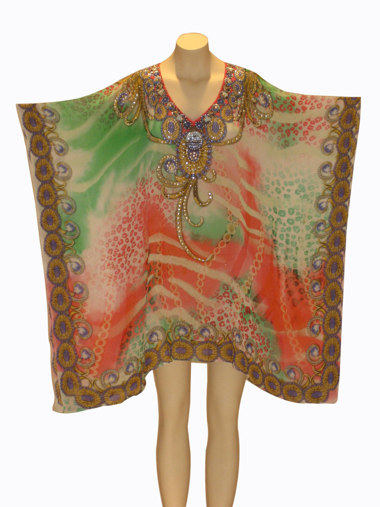 Embellished Kaftan Digital Print Design KF80164A