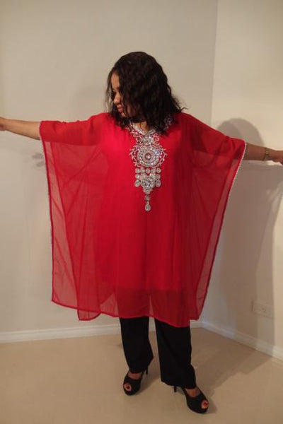 Demeter Dubai Kaftan Tunic (Ruby Red)