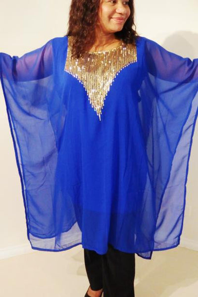 Hera Dubai Kaftan Tunic (Royal Blue)