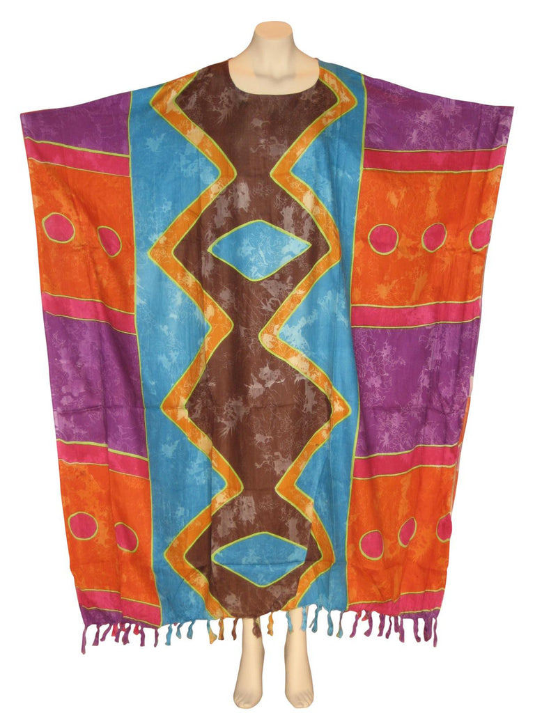 Afrocentric Royalty Kaftan Caftan Dress : Brown/Turquoise