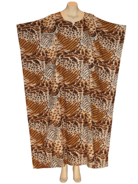 African Animal Kaftan Caftan Dress : Mixed Safari